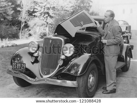 Car trouble - stock photo