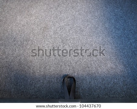 Car trunk floor - stock photo