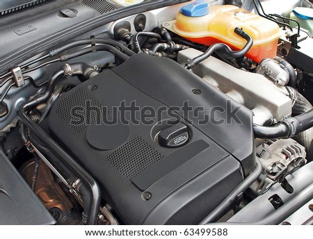 Car turbo engine - stock photo