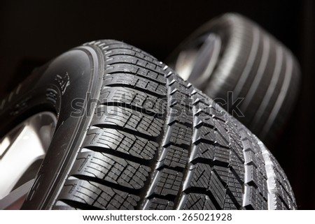 Car tyre close up - stock photo
