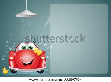 Car washing background - stock photo