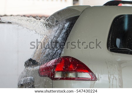 Car Washing. Cleaning Car