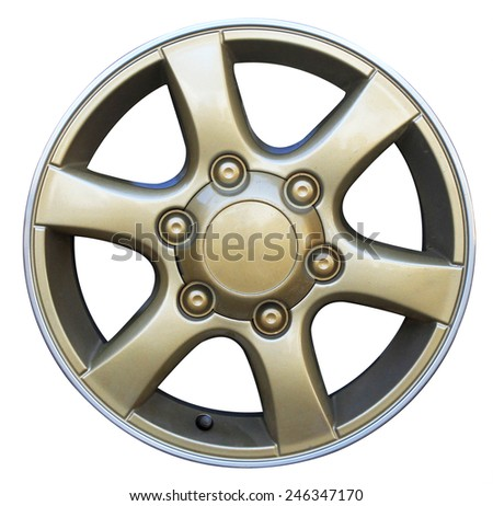 Car wheel, Car alloy rim on white background