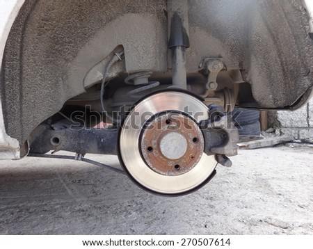 Car Wheel in a Service