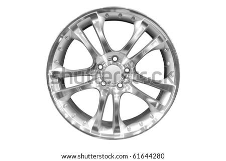 car wheel isolated - stock photo