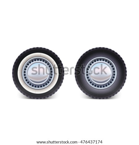 car wheel tire isolated on white background
