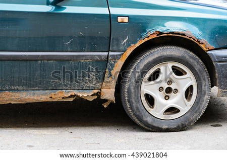 Car with Rust and Corrosion - stock photo