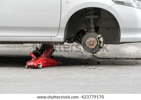 how to change a car tyre without a jack