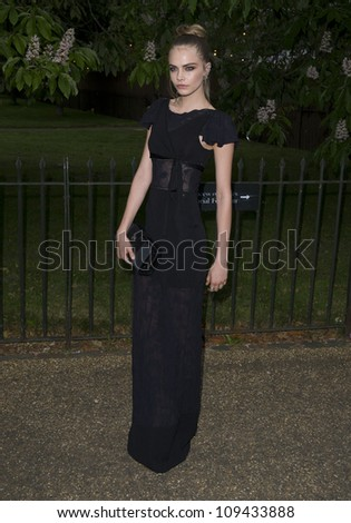 Cara Delevigne arriving for the Serpentine Gallery Summer Party 2012, Hyde Park, London. 26/06/2012 Picture by: Simon Burchell / Featureflash
