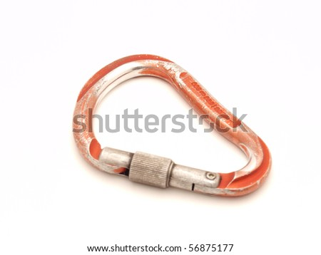 Carabiner on a white background