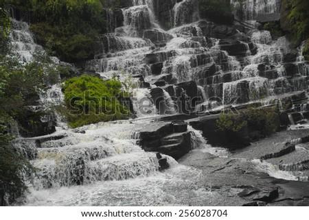 Caracol Waterfall at Canela  - Rio Grande do Sul - Brazil - stock photo