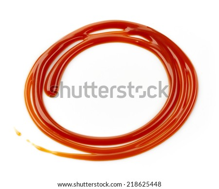 caramel decor isolated on a white background - stock photo