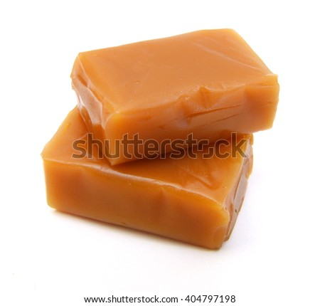 Caramel isolated on a white background