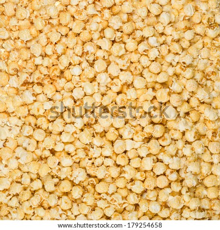 Caramel popcorn texture background - stock photo