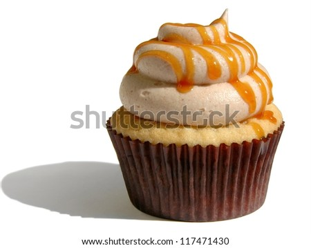 caramel spice cup cake - stock photo