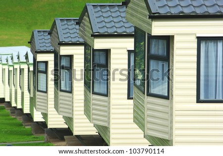 Caravan holiday park - stock photo