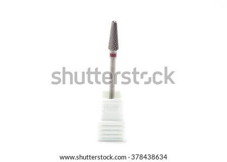 Carbide burs - Dental equipment - stock photo