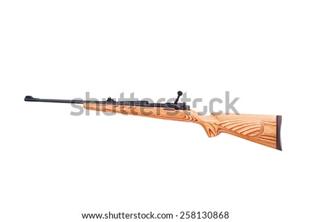 carbine on a white background - stock photo