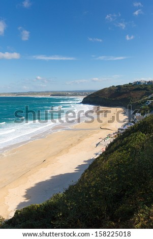 Carbis Bay Cornwall England  - stock photo