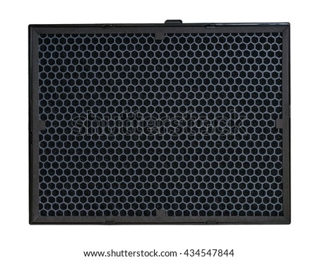 Carbon air filter for HVAC system. Isolated on white background. - stock photo