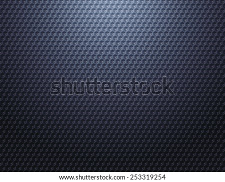 Carbon cells background. Dark blue grey metal grid pattern wallpaper  - stock photo