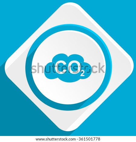 carbon dioxide blue flat design modern icon for web and mobile app - stock photo