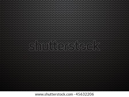 Carbon fiber weave with light reflection and black background