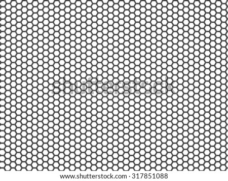 Carbon molecular structure grid background isolated on white - stock photo