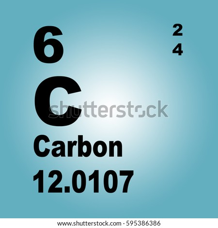 Carbon Periodic Table Elements Stock Illustration 595386386