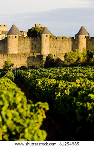 Carcassonne, Languedoc-Roussillon, France - stock photo