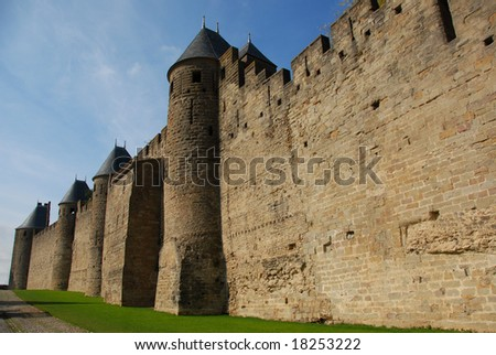 Carcassonne, medieval city in the Languedoc Roussillon, France