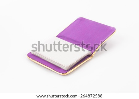 card bag on white background