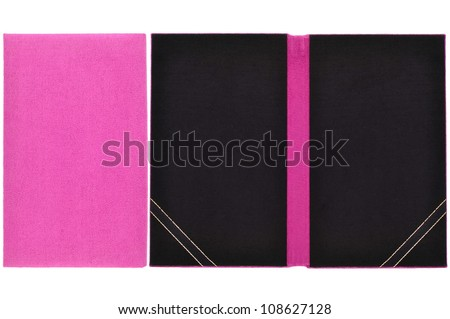 Card Book with blank and close - stock photo