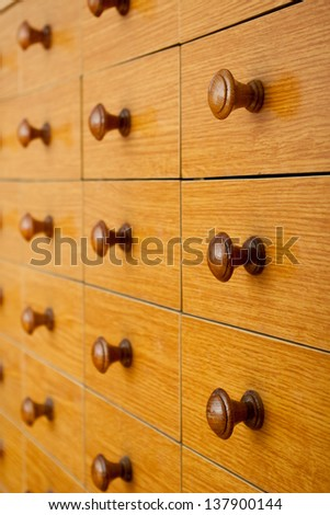 Card catalog - stock photo