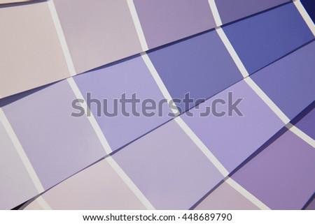 Card color palette in purple tones. Horizontal - stock photo
