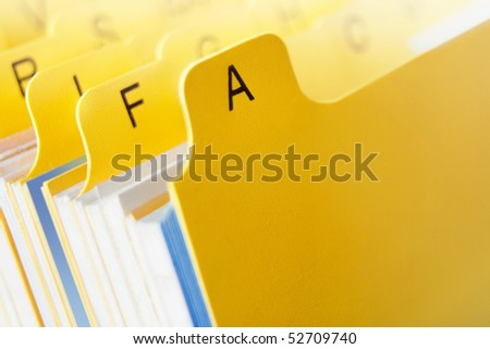 card file yellow - stock photo