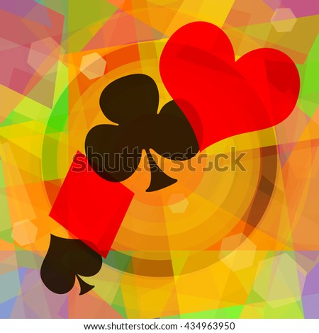 Card games abstract art background - stock photo