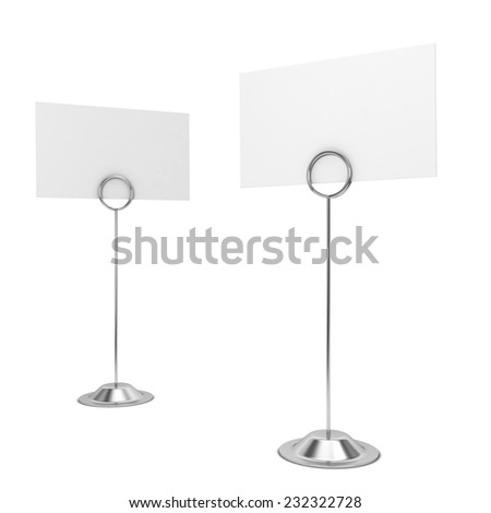 Card holders. 3d illustration isolated on white background  - stock photo
