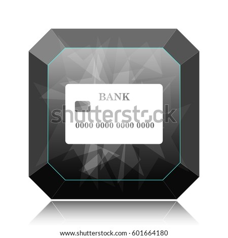 Card icon, black website button on white background.