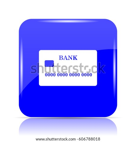 Card icon, blue website button on white background.