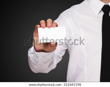 card in hand - stock photo