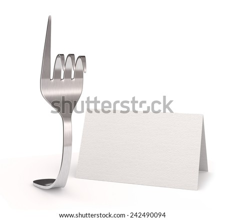 card reserved - stock photo