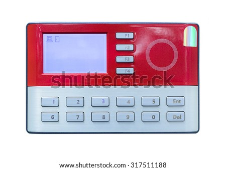 Card scan on access control - stock photo