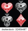 card symbols (look for vector version in my portfolio) - stock vector