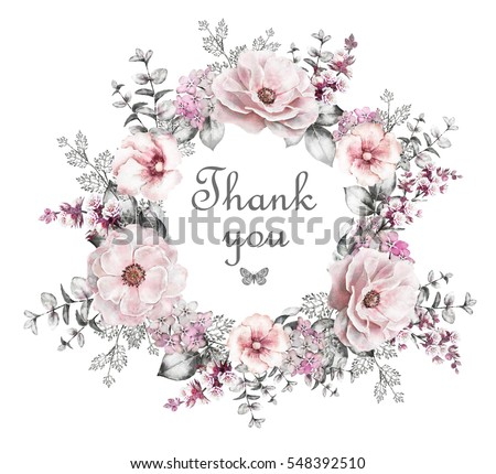 Watercolor Flower Frame Stock Images, Royalty-Free Images ...