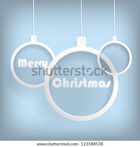 Card with Christmas balls - stock photo
