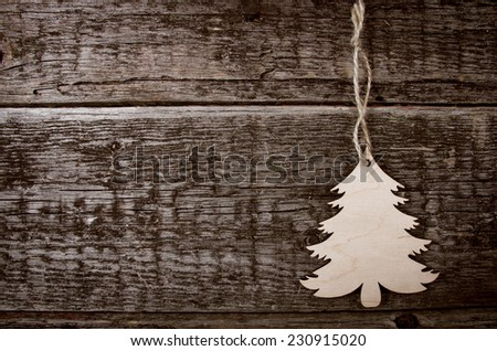 Card with christmas decorations  - stock photo