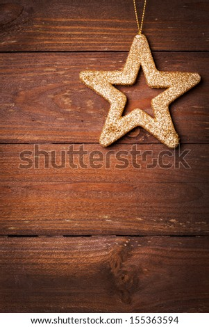 card with star shape and copy space  - stock photo