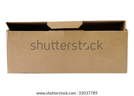 cardboard box - stock photo