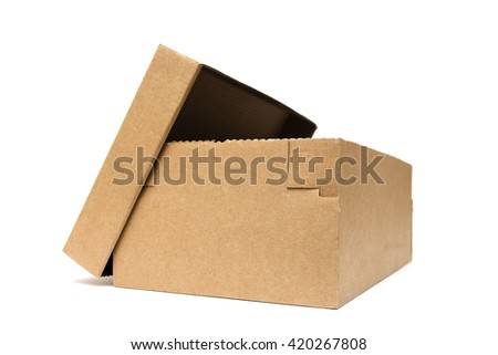 Cardboard box,cardboard box,paper pack,cardstock - stock photo